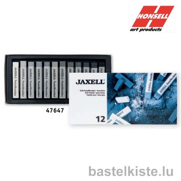 JAXELL Soft Pastelle, 12er GRAUTÖNE Pastellset