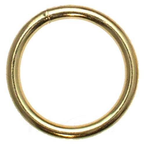 O-Ring, Rundring aus Stahl, vermessingt
