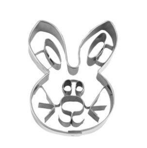 Präge-Ausstechform Hasengesicht 5 cm aus Edelstahl