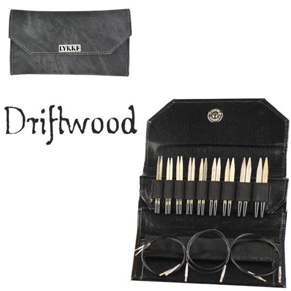 LYKKE Rundstrick-Set Driftwood 3,5-inch Nadeln