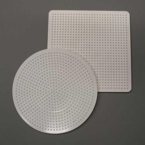 Legeplatte Bügelperlen Set Quadrat und Kreis