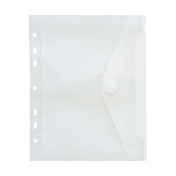 Sammelhülle, Ringbuchmappe - Transparent mit Klettverschluß