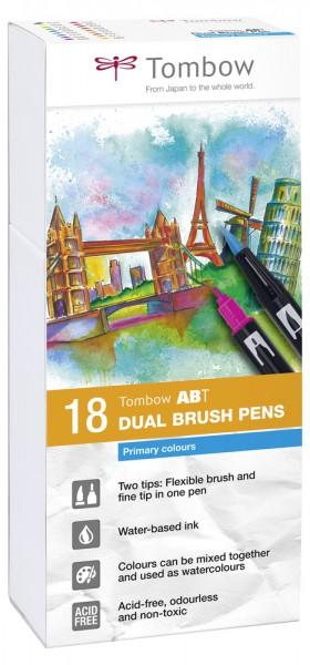 ABT DUAL BRUSH PENS 18er Set Primary Colours