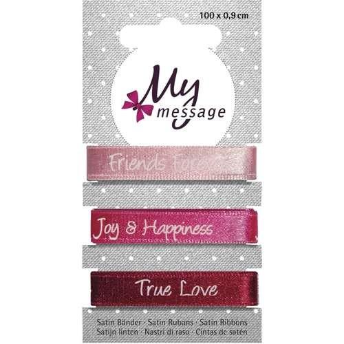 """My Message Satin Bänder """"Friends Forever"""""""