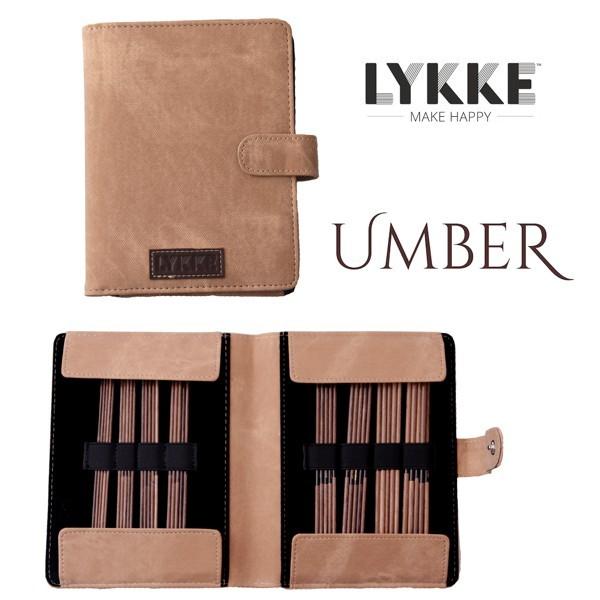 """LYKKE Double-point UMBER 6"""" Strumpfstricknadel-Set"""