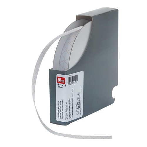 PRYM 911425 Standard-Elastic 12mm, weiß 25m