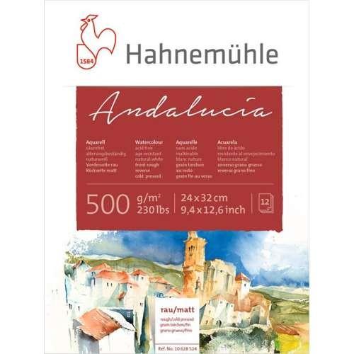 Hahnemühle Andalucia Aquarellblock 500g/m², 30x40cm, 12 Blatt