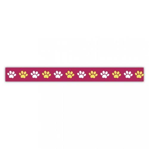 Klebeband Washi Tape Pfoten bunt Ø 15mm, 15m