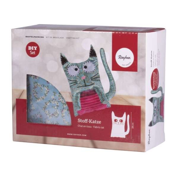 Bastelpackung Stoff-Katze