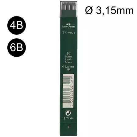 Ersatzminen, Nachfüllminen Ø 3,15mm für Fallminenbleistift