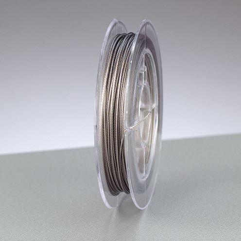 Schmuckdraht nylonummantelt Ø 0,38mm, 10m silber