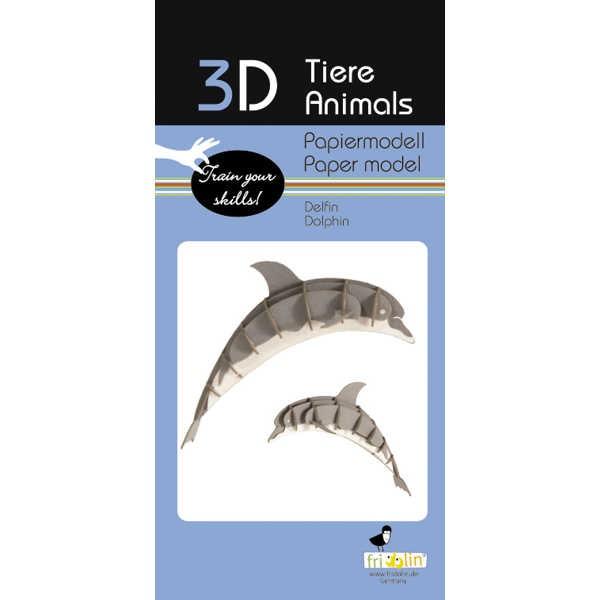 "3D Papiermodell ""Delfin"" zum zusammenbauen"