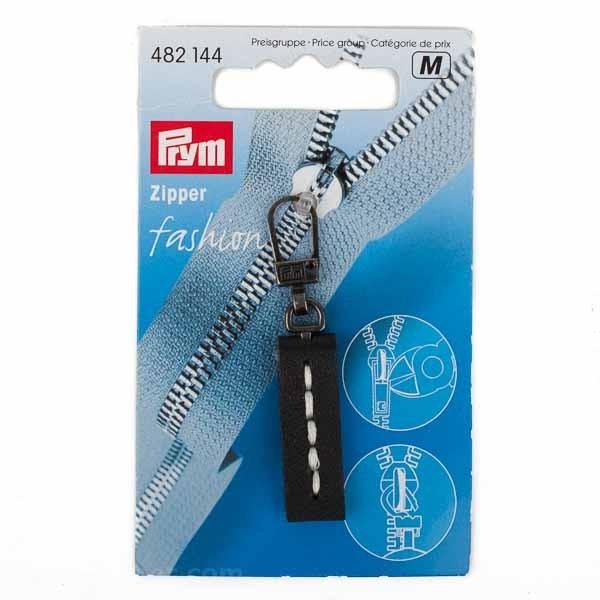 "PRYM Zipper ""Fashion"", Leder, schwarz, 1 Stk."