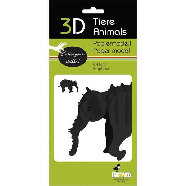 """3D Papiermodell """"Krokodil"""" zum zusammenbauen"""