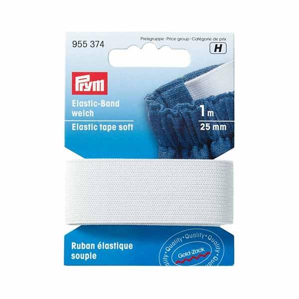 Elastic Band weich 25mm weiß 1m