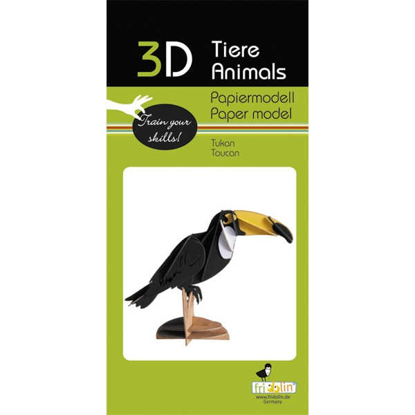 """3D Papiermodell """"Tukan"""" zum zusammenbauen"""