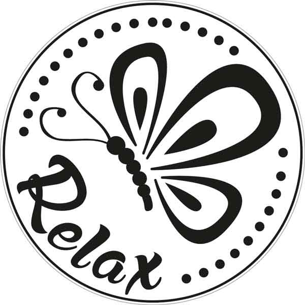 """RAYHER Seifenlabel """"Relax"""""""