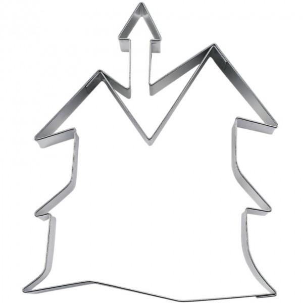 Präge-Ausstechform Spukschloss 9,5 cm aus Edelstahl