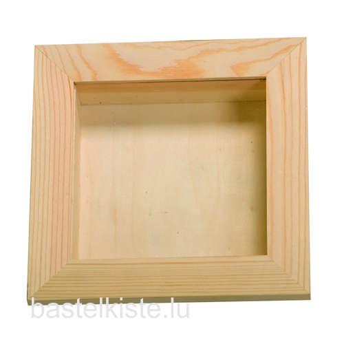 Holzvitrine 15x15 cm mit Plexiglasscheibe