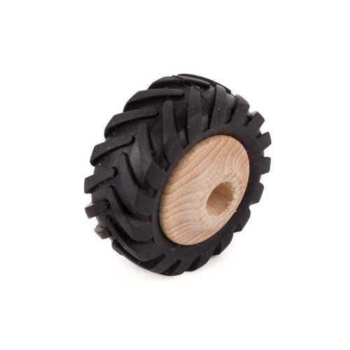 Traktor Holzrad mit Profilgummi Ø 43mm