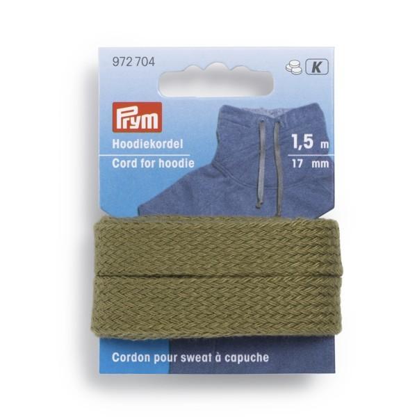 PRYM 972704 Hoodiekordel Ø=17mm, 1,5 m Farbe Khaki