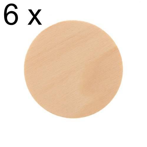 Sperrholzscheiben Ø 60mm, 6 Stück