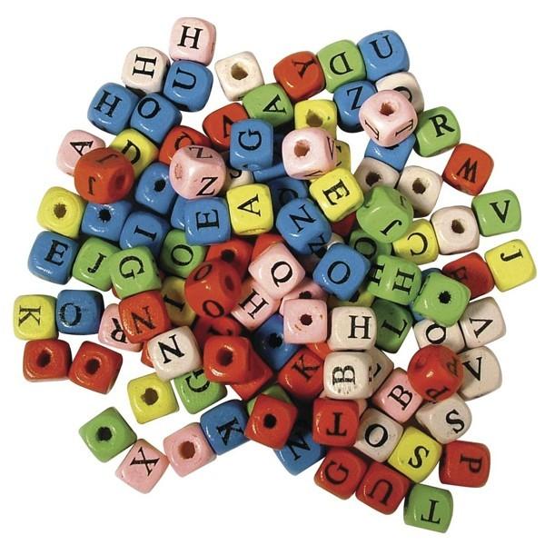 Holz-Buchstabenwürfel