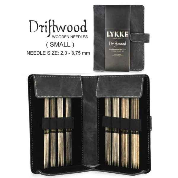 "LYKKE Double-point Driftwood 6"" Strumpfstricknadel-Set small"
