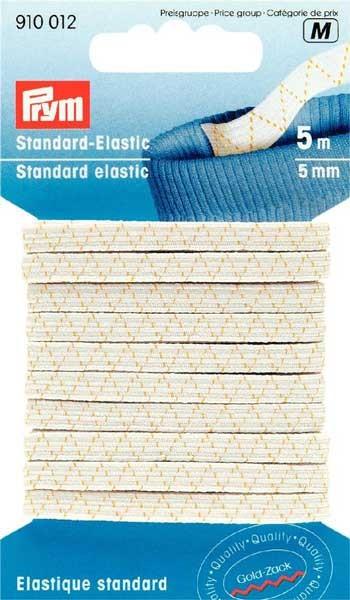 PRYM Standard Elastic Band 5mm weiß, 5m