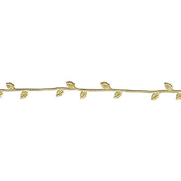 Wachs-Borte, 21 cm gold