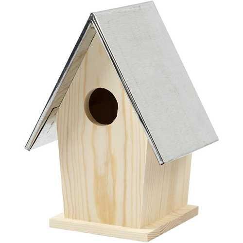 Vogelhaus mit abnehmbarem Metalldach
