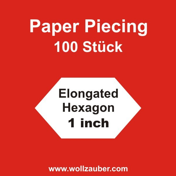 Templates Paper Elongated Hexagon 1 inch, 100 Stk.