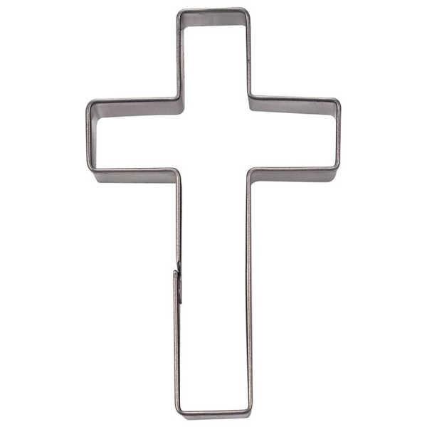 Präge-Ausstechform Kreuz 7 cm aus Edelstahl