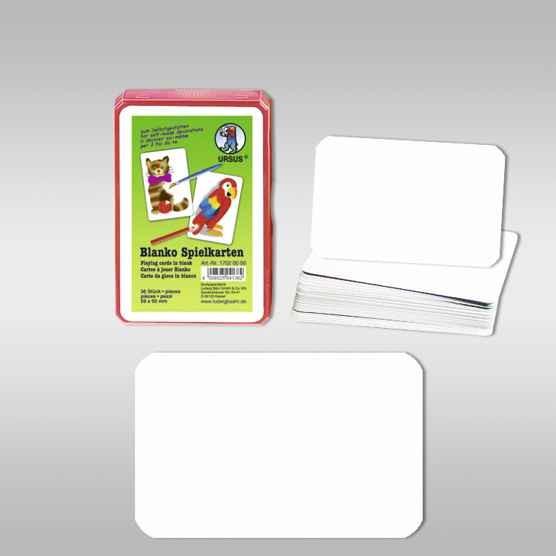 Blanko-Spielkarten 59x91mm, 36 Karten