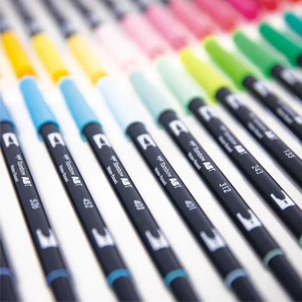 Tombow ABT Dual Brush Pens Einzelstifte in 107 Farben + Blender