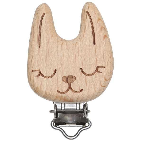 Schnullerclip Katze aus Holz