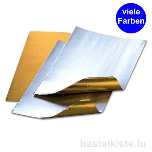 Prägefolien, Alufolienzuschnitte 20 x 30 cm, Ø 0,15 mm