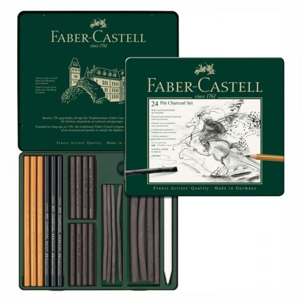 Faber Castell Pitt Charcoal Set - 24 teillig