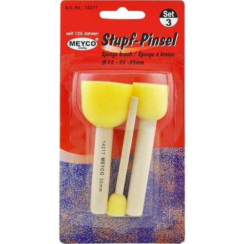 Stupfpinsel-Set mit 3 Größen