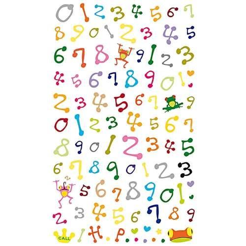 Gel-Sticker Zahlen, Bunt