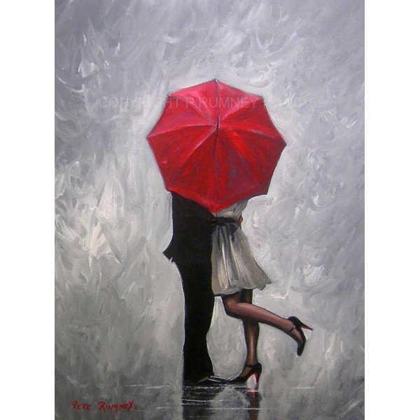 Diamond ART, Daimond Painting 40x30cm, Paar mit Schirm