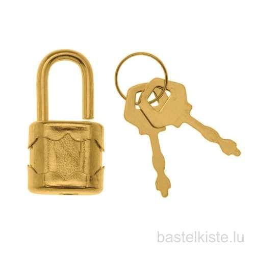 Miniaturschloss mit 2 Schlüsseln