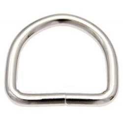 D-Ring aus Stahl, vernickelt