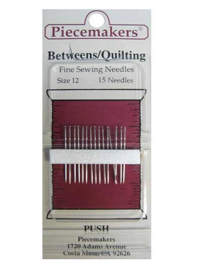 Quilting Piecemakers Betweens - Fine Sewing Needles