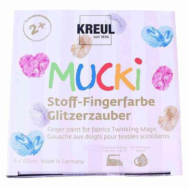 MUCKI Stoff Fingerfarbe Glitzerzauber 4er Set