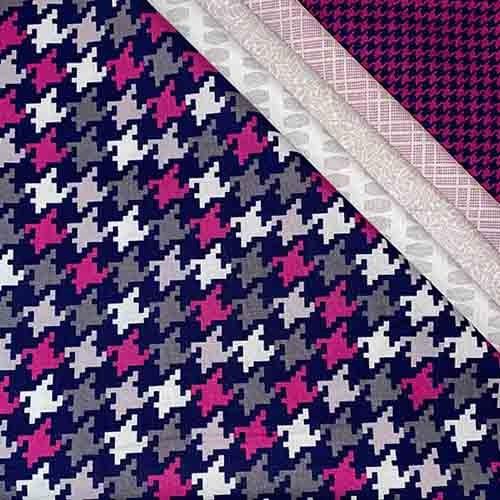 """Stoffpaket, 5x Hahnenfuß-pink"""" 50x55cm"""