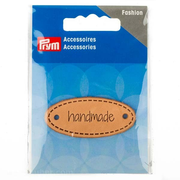 "PRYM Accessories Label ""Handmade"", Leder, 60 x 13mm"