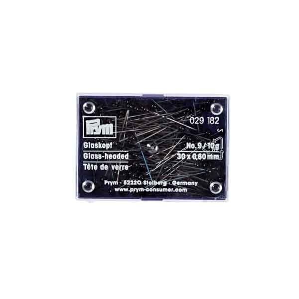 Glaskopfnadeln 30x0,60mm schwarz 10g