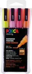 POSCA Paint Marker 4er Set PC-3M GLITTER Hell 0,9 - 1,3mm