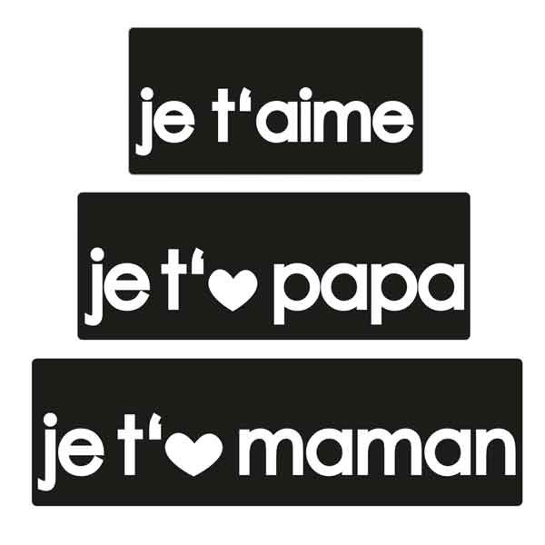 "RAYHER Seifenlabels ""je t'aime+je..papa+je..maman"""
